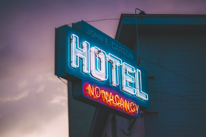 hotel no vacancy neon sign   what is channel management in the hotel industry   HiSITE CM